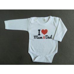 I love Mum & Dad baba body