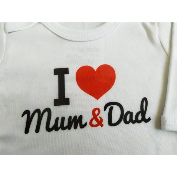 I love Mum & Dad baba body