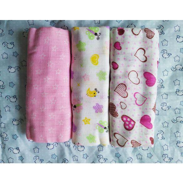 Mintás tetra típusú textilpelenka - fiús, lányos