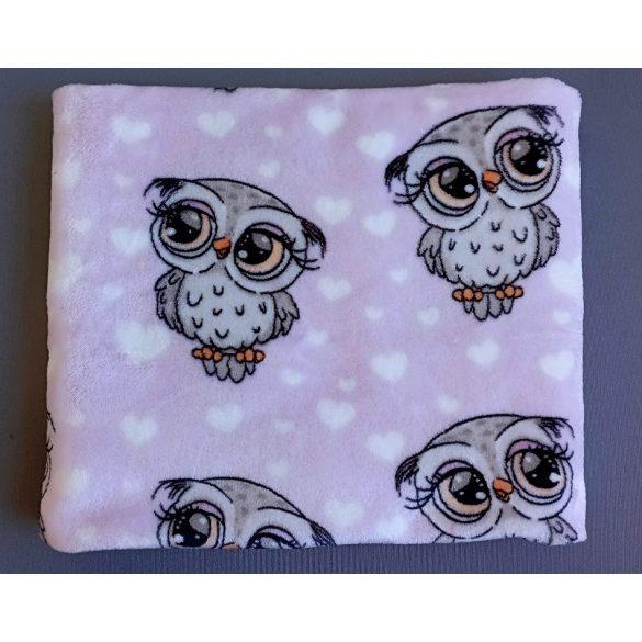 Kutyus mintás rózsaszín wellsoft babatakaró - Asti