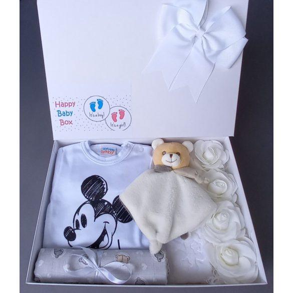 Mickey fehér babaváró csomag