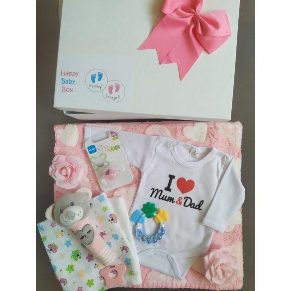 I love Mum & Dad Babaváró csomag lányos - közepes
