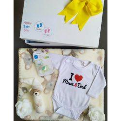 I love Mum & Dad Babaváró csomag natúr - kicsi