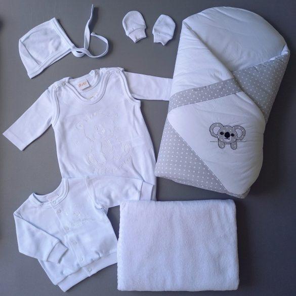 Hazahozós szett hófehér - választható pólya szín